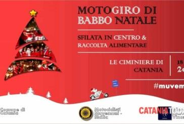 Motoraduno di Babbo Natale a Catania