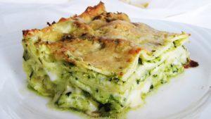 Lasagne con stracchino e pistacchi
