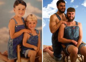 10 coppie di fratelli che si fotografano da piccoli... e da grandi