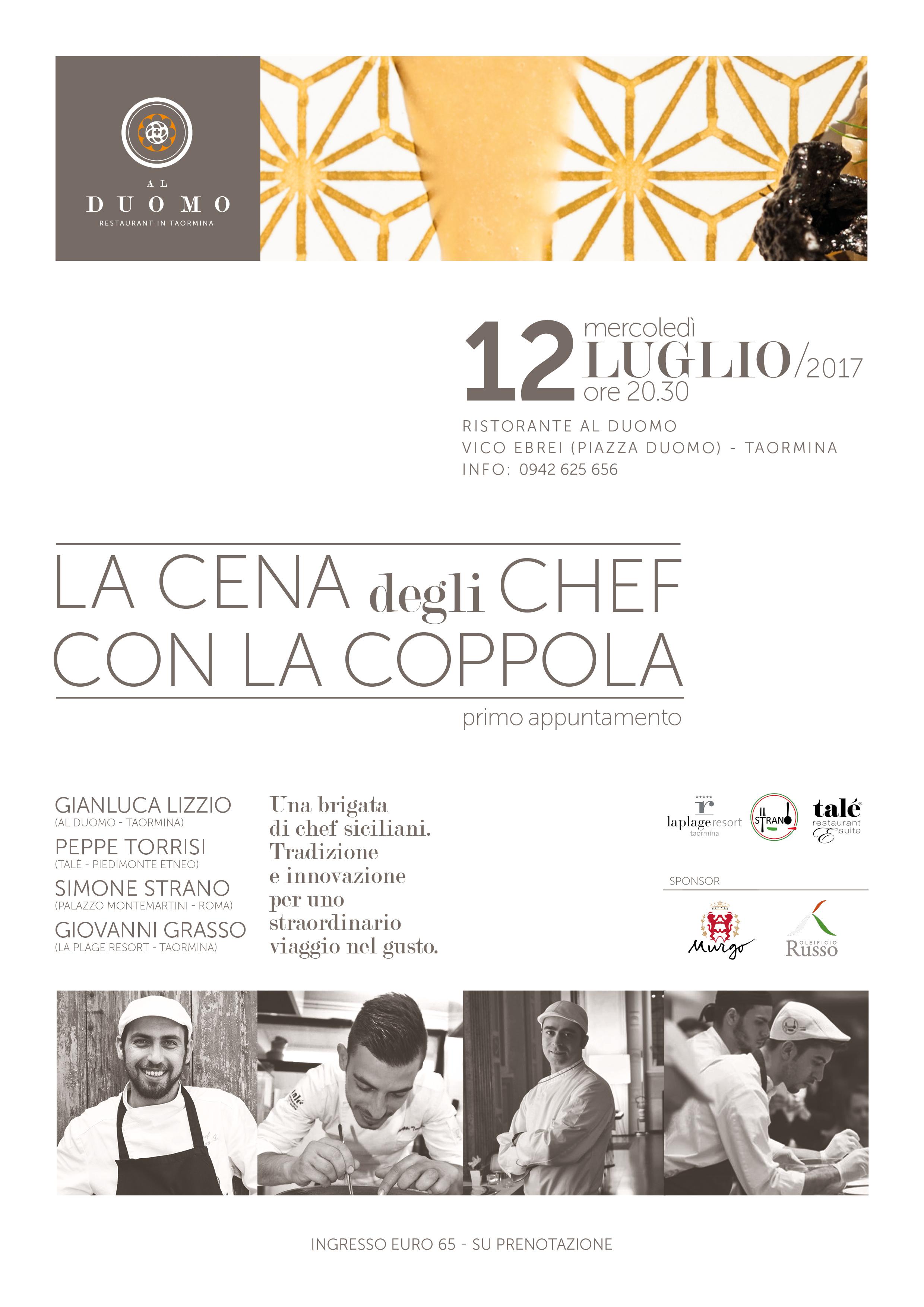 """A Taormina la prima cena degli """"chef con la coppola"""" - f424bdf1a79a"""