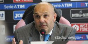 """Palermo, Tedino: """"Perugia? Come un match di pugilato. Serve l'amore dei tifosi"""""""