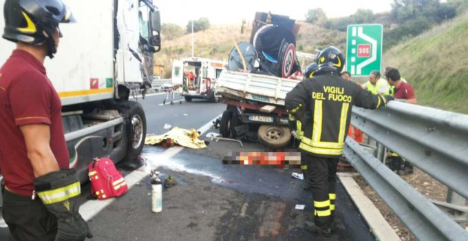capaci incidente stradale