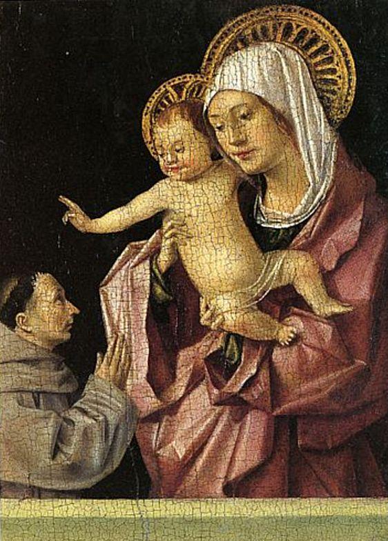 La Madonna col bambino benedicente