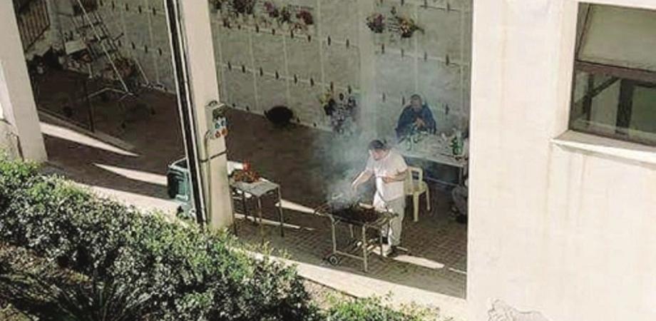 barbecue tra le tombe a melilli
