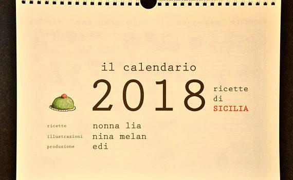 Calendario 2018 di ricette siciliane