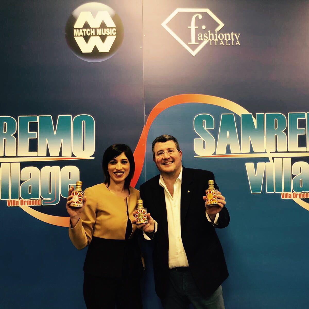 Maria Chiara Graziano, giornalista e testimonial la Vucciria e Renato Rocco, direttore della rivista la Buona Tavola