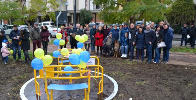 Inaugurata giostra inclusiva Paternò