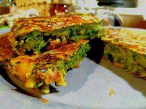 Frittata senza uova di verdure miste, colesterolo free