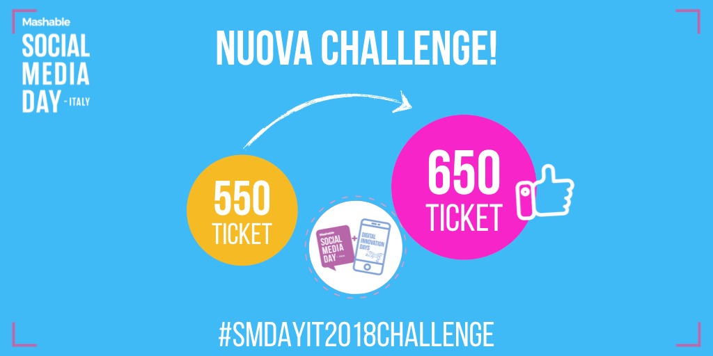 Mashable Social Media Day, pronta una nuova sfida: #SMDAYIT18challenge -