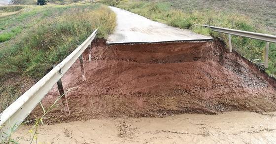 Crollo ponte a Mussomeli