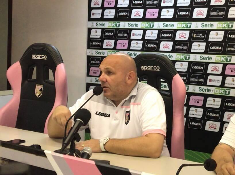 Bruno Tedino in conferenza stampa