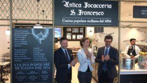 Antica Focacceria San Francesco a Catania: inaugurazione all'aeroporto