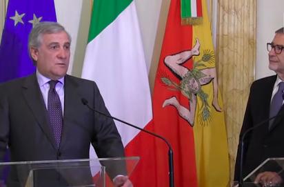Tajani in Sicilia