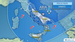 Maltempo in arrivo, tracollo termico al Sud nel weekend: torna la neve