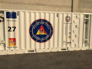 Protezione civile, consegnati i container per le emergenze