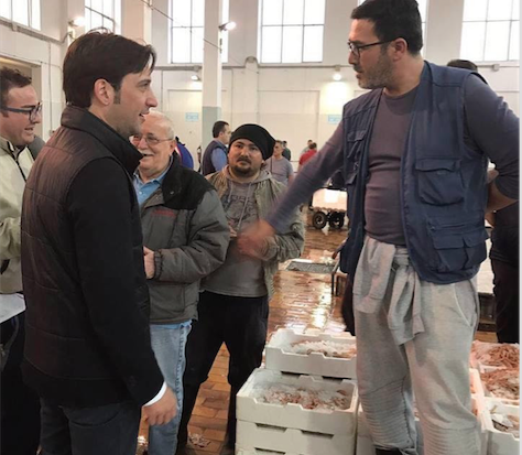 Ferrandelli al mercato ittico