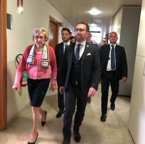 Ministro Bonafede a Caltanissetta