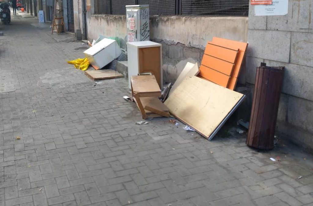 Marciapiedi viale Rapisardi a Catania