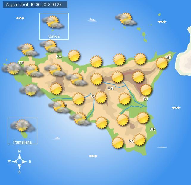 Meteo martedì 11 giugno Sicilia
