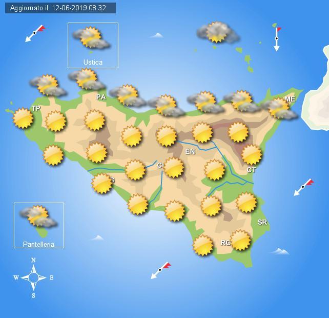 Meteo 13 giugno Sicilia