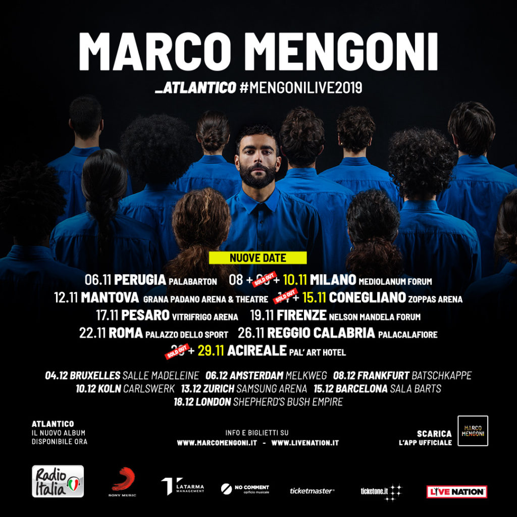 Marco Mengoni sold out la data di Acireale