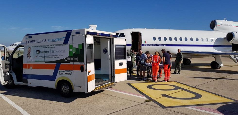 Soccorso aereo per un bimbo di 4 anni