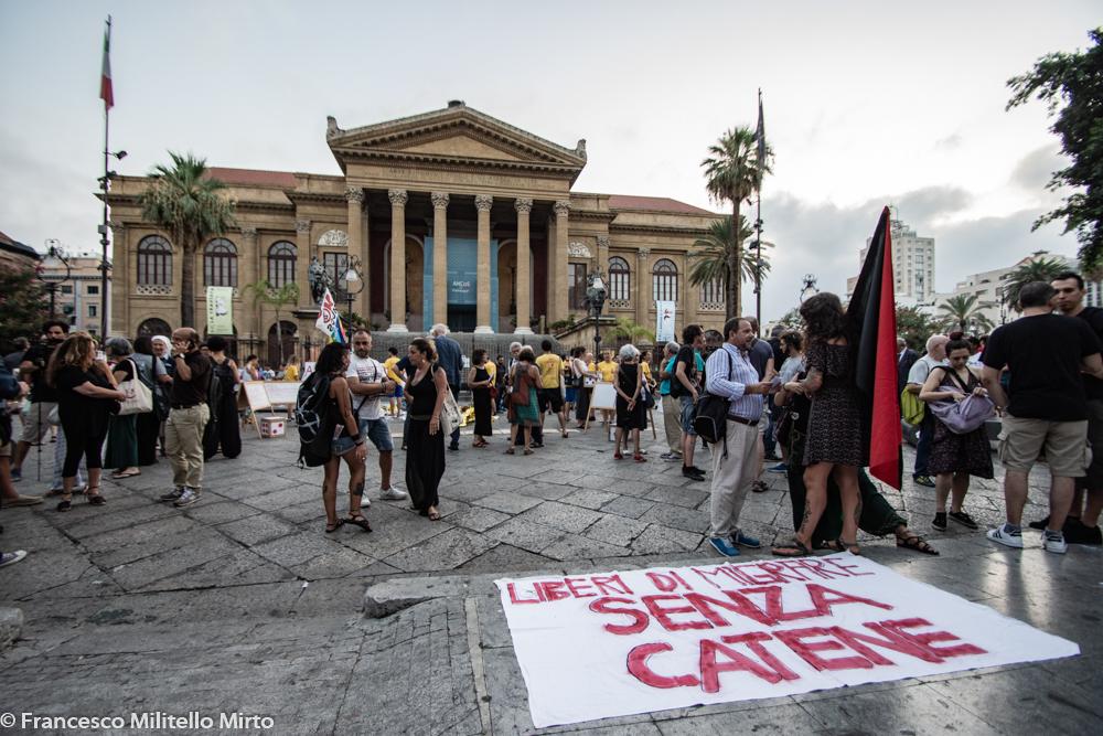 Palermo contro decreto sicurezza bis