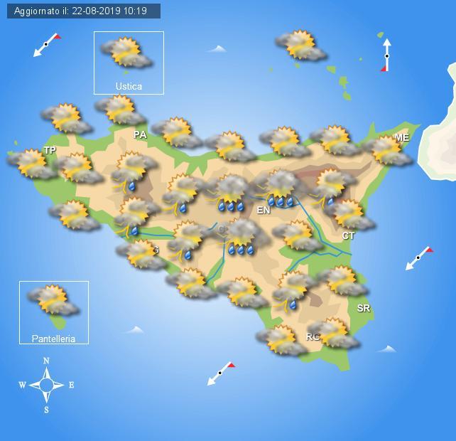 Meteo venerdì 23 agosto Sicilia