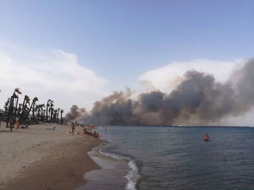 Rischio incendio Playa di Catania