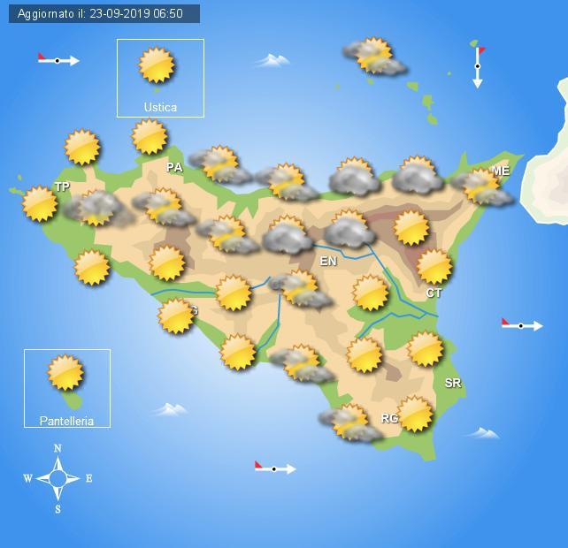 Meteo martedì 24 settembre sicilia