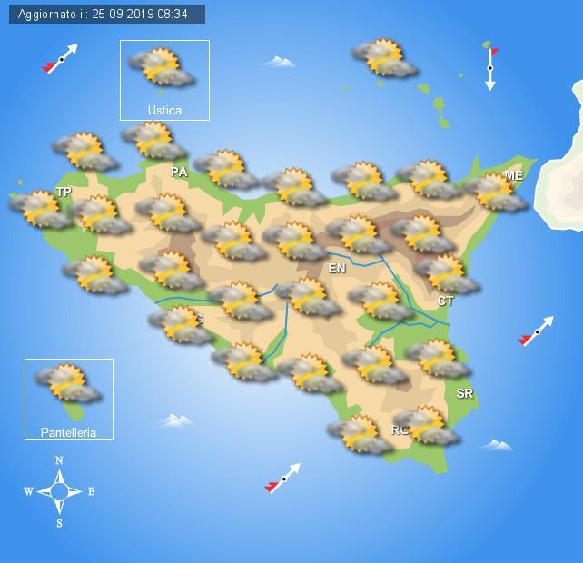Meteo giovedì 26 settembre Sicilia