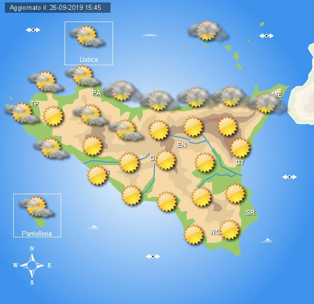 Meteo ultimo weekend settembre