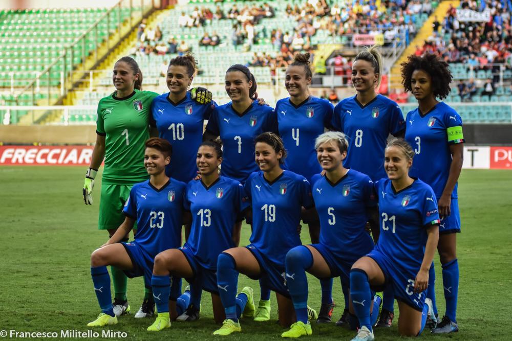 Nazionale femminile calcio a Palermo