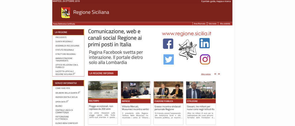 Sito web e canali social