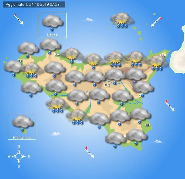 Meteo venerdì 25 ottobre Sicilia