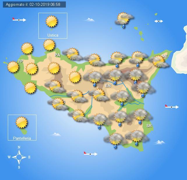 Meteo giovedì 3 ottobre Sicilia