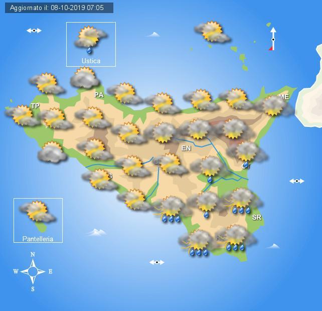 Meteo mercoledì 9 novembre Sicilia
