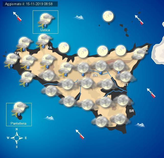 Meteo sabato 16 novembre Sicilia