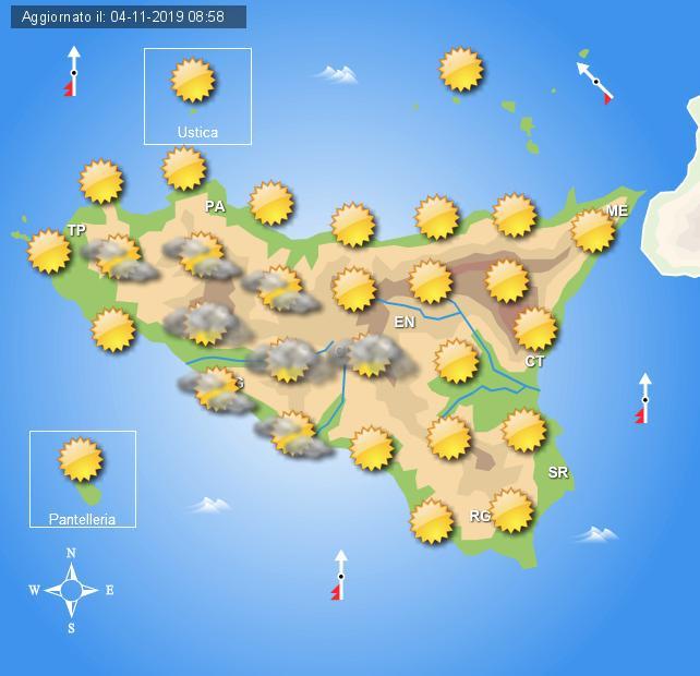 Meteo martedì 5 novembre Sicilia