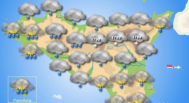 Meteo venerdì 13 dicembre Sicilia