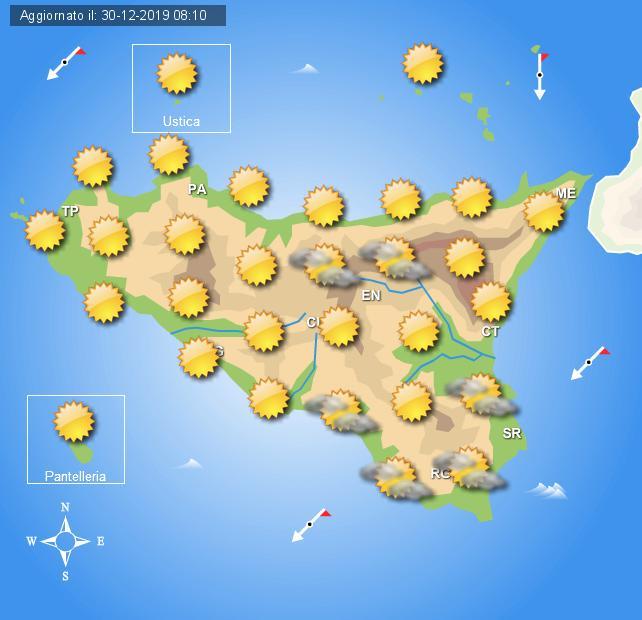 Meteo martedì 31 dicembre Sicilia