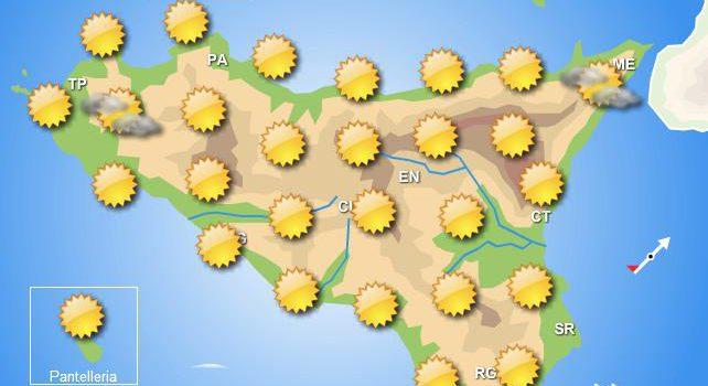 meteo weekend immacolata sicilia