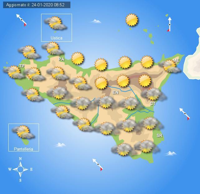 Meteo ultimo weekend gennaio Sicilia
