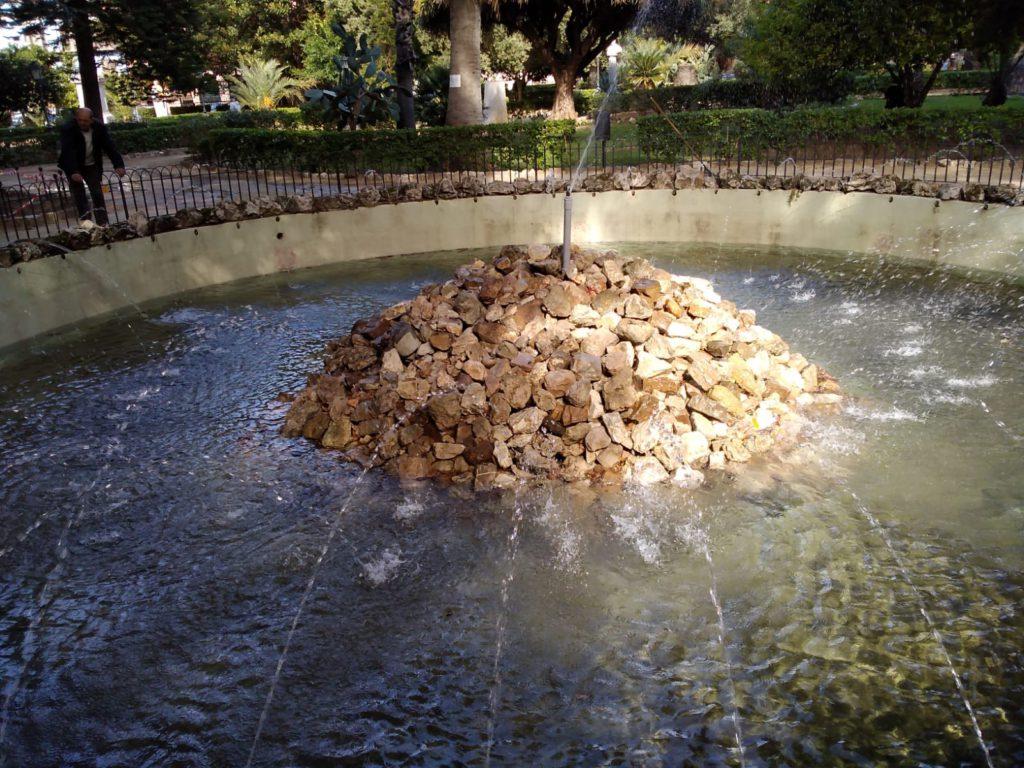 fontana di villa Garibaldi