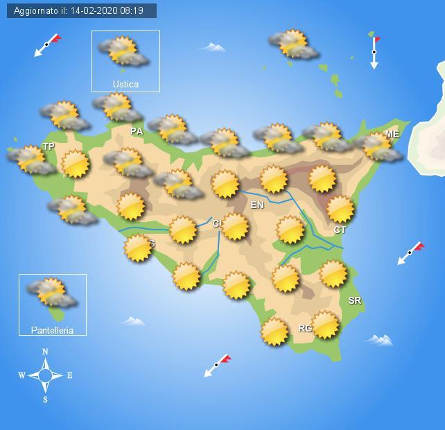Meteo weekend 15 e 16 febbraio Sicilia