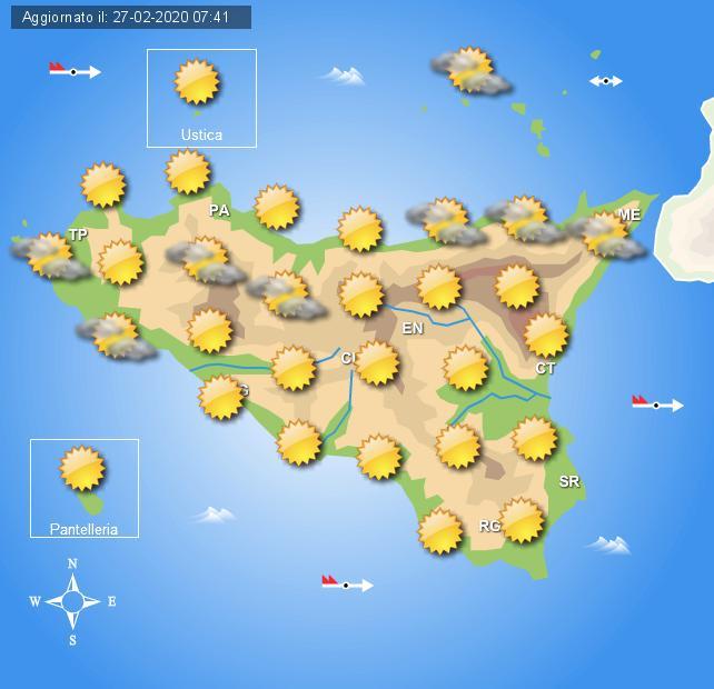 Meteo venerdì 28 febbraio Sicilia