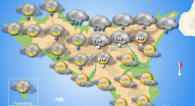 Meteo mercoledì 5 febbraio Sicilia