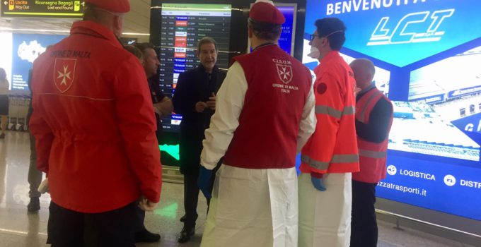 Musumeci all'aeroporto di Catania