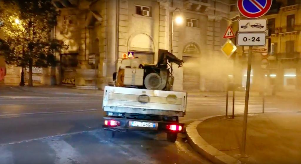 Sanificazione delle strade