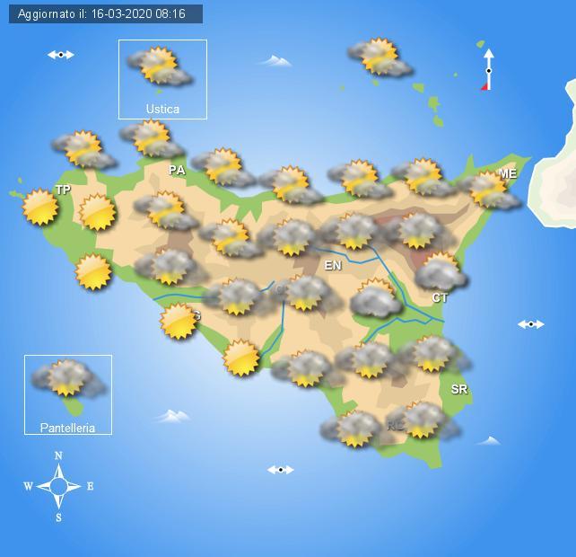 Meteo martedì 17 marzo Sicilia